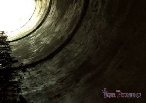 Inside of a Sewer Line